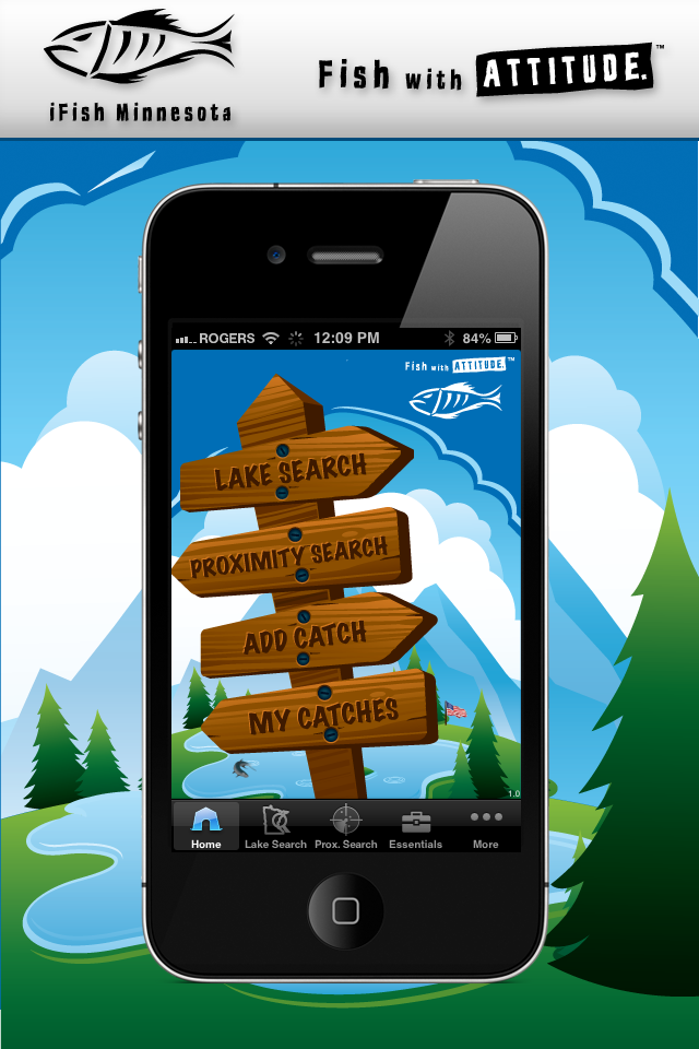 iFish Minnesota App Home Screen